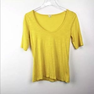 J. Crew Drapey elbow-sleeve t-shirt